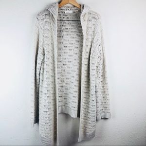 Anthropologie sleeping on snow hooded sweater